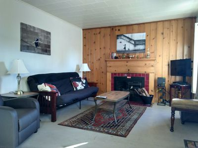 Cozy Living Room W/Fireplace For Evening Relaxation!  Futon Folds Down- Sleeps 2