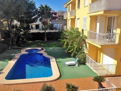 Photo for Modern flat with balcony to the beautiful communal pool, WIFI. Ca n´Antonia 092