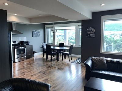 Photo for Beautiful 1 bedroom 1 bath suite attached to a home. Overlooking Okanagan Lake.