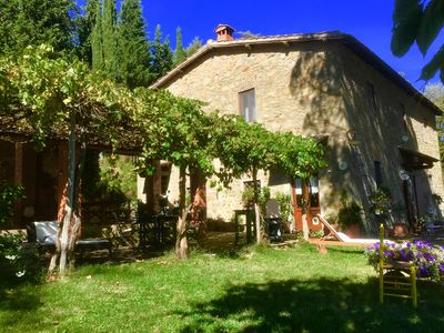Photo for Farmhouse between Florence and Siena private pool hot tub amazing view 4BR 4 BA