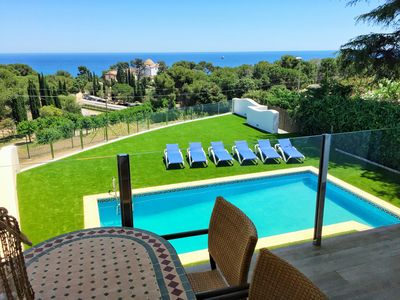 Photo for Ideal villa families with WIFI / AC / BBQ and sea views beach front Sta. Cristina