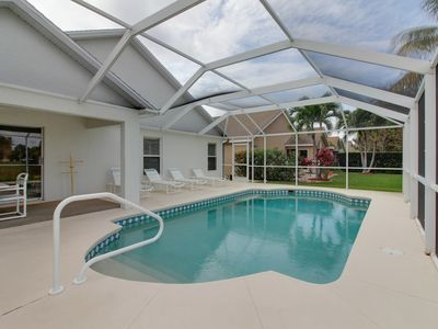 Photo for Quiet Fort Myers getaway w/ private, screened-in pool; close to beaches & golf