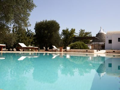 Photo for BEAUTIFUL TRULLI WITH INFINITY POOL - 4 BEDROOM - UP TO 9 PEOPLE
