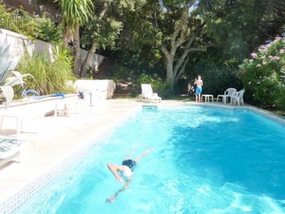 Photo for Quiet villa, private pool, 5 min from Gigaro beach