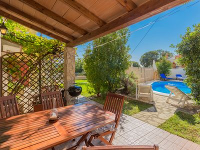Photo for Stone house with private private pool and 3 bedrooms near Porec