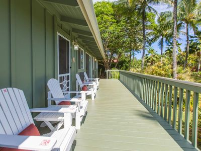 Photo for Steps to Anini Beach - 3 bed plus cottage newly renovated Kauai Beach House.