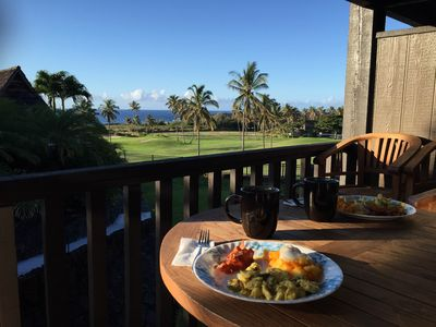The stunning view from the lanai