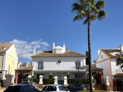 Photo for Fantastic 5 Bedroom Beachfront Townhouse in Marbella best beach superb Sea views