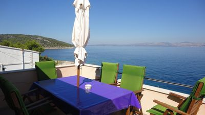 Photo for Holiday house 20 m from the beach with sea view
