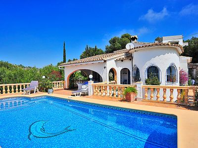 Photo for 4 bedroom Villa, sleeps 8 in Moraira with Pool, Air Con and WiFi