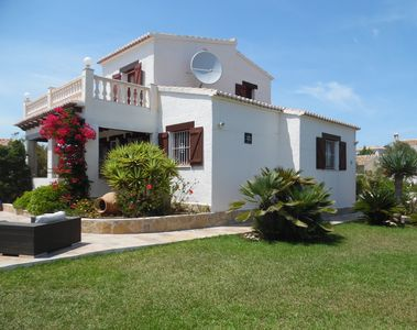 Photo for Villa close to Moraira, private pool, sea/mountain views and large flat garden