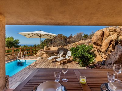 Photo for Villa Rosa 8 with private pool and sea view solarium
