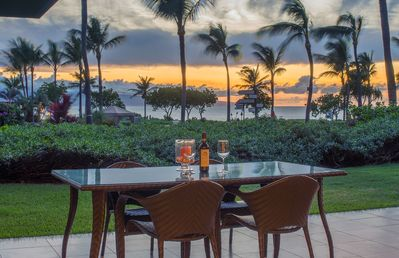 Photo for Maui Resort Rentals: Honua Kai Konea 101 – One and Only Ground Floor OCEANFRONT 2BR, Huge Lawn Area w/ Ocean Views + Built-in B.B.Q. Grill!