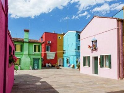 Photo for Typical holiday house in the colourful Island of Burano, Venice