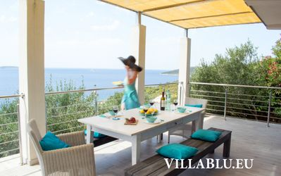 Photo for Villa Blu: secluded, luxurious vacation home down by the sea
