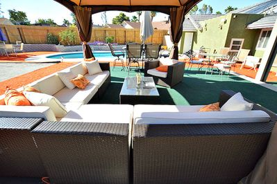 Enjoy a nap or a night cap in one of the many outdoor seating options.