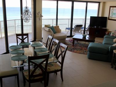 Photo for Dunes of Panama Large 3BR, All Rooms Gulf Front View, 55 feet of Balcony!