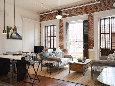 Photo for Downtown Loft with Private Balcony on The Strand at Historic Hendley Market!