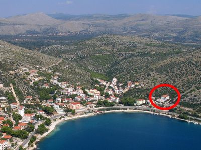 Photo for Two bedroom apartment with terrace and sea view Marina (Trogir)