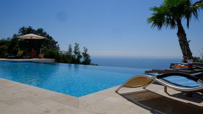 Photo for LE FANAL Villa panoramic sea view infinity pool calm 8 - 10 pers
