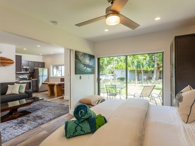 Photo for Remodeled 1 Bedroom Villa #8 with Ocean Views, Steps to the Beach, Surf & Shops