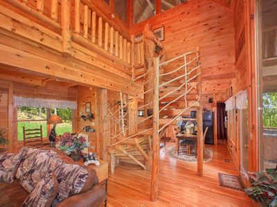 Photo for Save 10% on Summer Stays |Pet-friendly cabin w/pool table perfect for family getaway