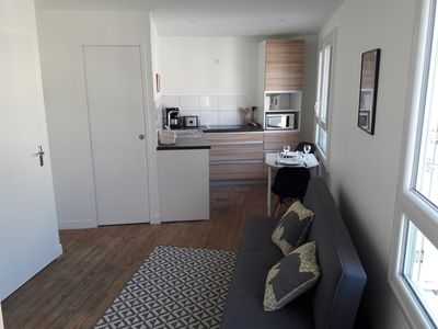 Photo for 2 rooms downtown 2 minutes from the large beach on foot