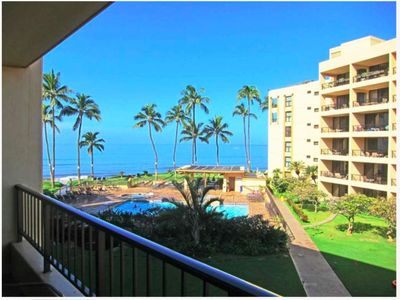 Photo for Escape to Maui and enjoy ocean views from this 1bd condo at Sugar Beach Resort #302