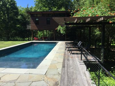 Photo for Modern Compound in Rhinebeck with Main House, Guest House and Pool House