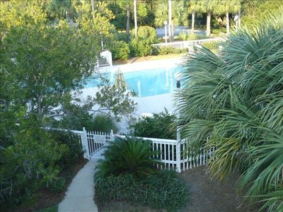 View of pool from master room deck