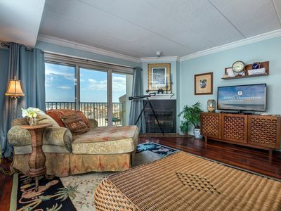 Photo for Beautiful ocean front unit.  Stunning views, just steps to the beach.
