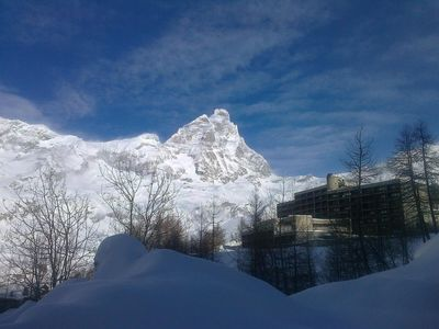 Photo for large studio 4 places in Cervinia, right on the slopes