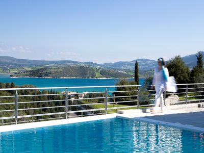 Photo for New! Lovely apartment with sea view, balcony and swimming pool