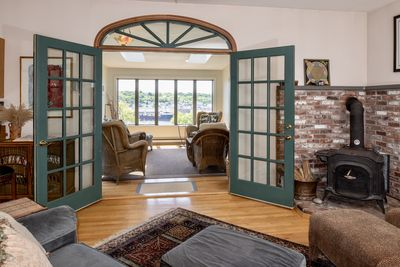Enjoy the Gloucester harbor view from the Porch, Sunroom, Family Room & Kitchen.