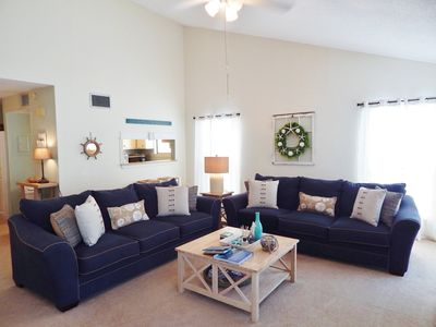 Photo for 3 bedroom, 2 bath Town home condo #22 is a short stroll to private beach!