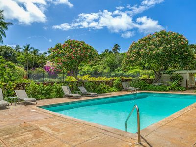 Tropical Condo w/Pool, A/C, & Short Walk to the Beach. Poipu Crater