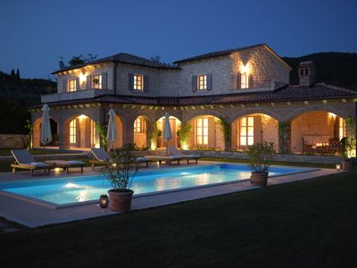 Photo for Luxury villa with large heated pool and game room