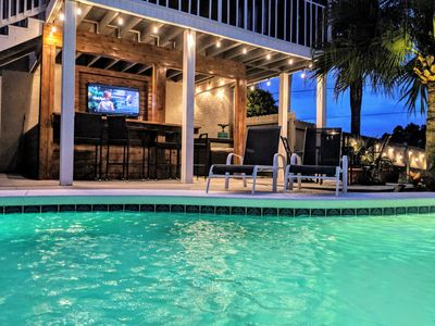 Photo for Shangri-La your personal paradise! Heated pool, game room, near the beach!
