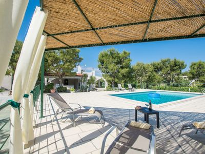 Photo for Private Villa with A/C, WIFI, private pool, TV, patio, panoramic view, parking, close to Ostuni