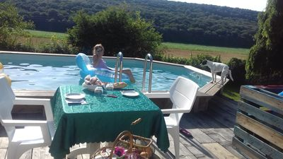 Photo for Domaine de Fontenelay with swimming pool, jacuzzi apartment, playgrounds, pétanque