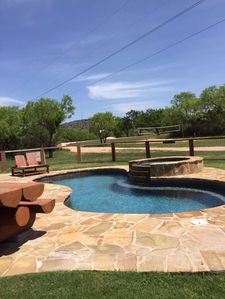 Photo for 3 Bed/2 Bath, loft, fireplace Sleeps 14 private pool/hot tub,Pet Friendly