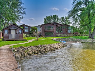 Photo for Lakefront Eau Galle Home w/Hot Tub & Fire Pit