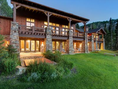 Photo for Private 11 acre, Luxury Ski In/Out,Hot Tub-Pool Table-PingPong-Outdoor Fireplace