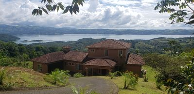 Photo for Relax in Jacuzzi with panoramic Views of Lake arenal after a day of adventure