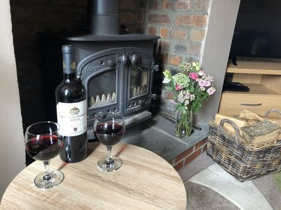 Relax in front of a roaring log fire