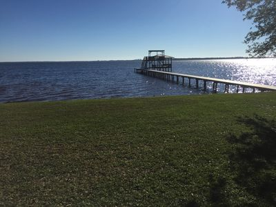 Photo for Quaint waterfront cottage on Perdido Bay with pier and a fantastic view