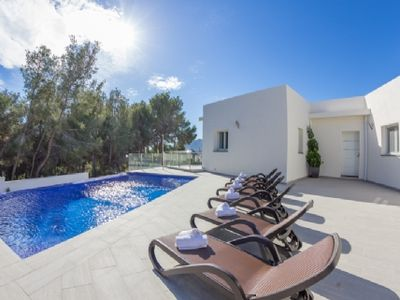 Photo for Renting this beautiful modern villa in Calpe near the sea on the Costa Blanca