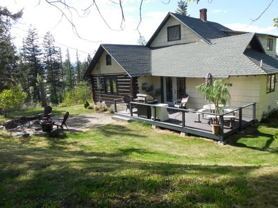 Photo for Family-Friendly Log Home Overlooking Flathead Lake