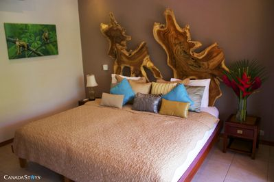 2nd Bedroom:   King bed, splits in to  twin beds.
