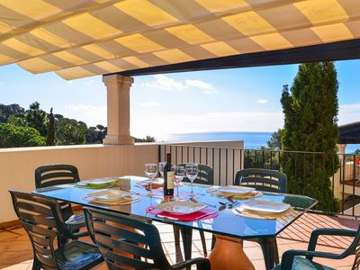 Photo for Club Villamar - Newly refurbished holiday villa, located in an elevated position offering magnifi...